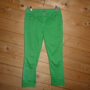 Dittos Green Skinny Crop Jeans 27 Cotton Blend